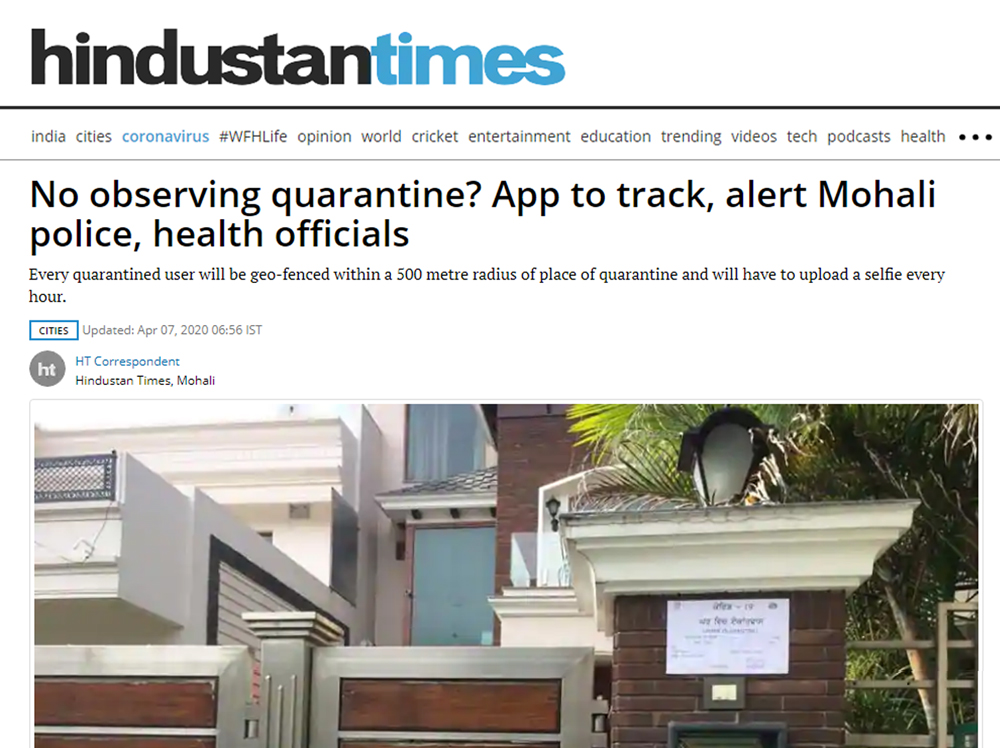 No observing quarantine? App to track, alert Mohali police, health officials