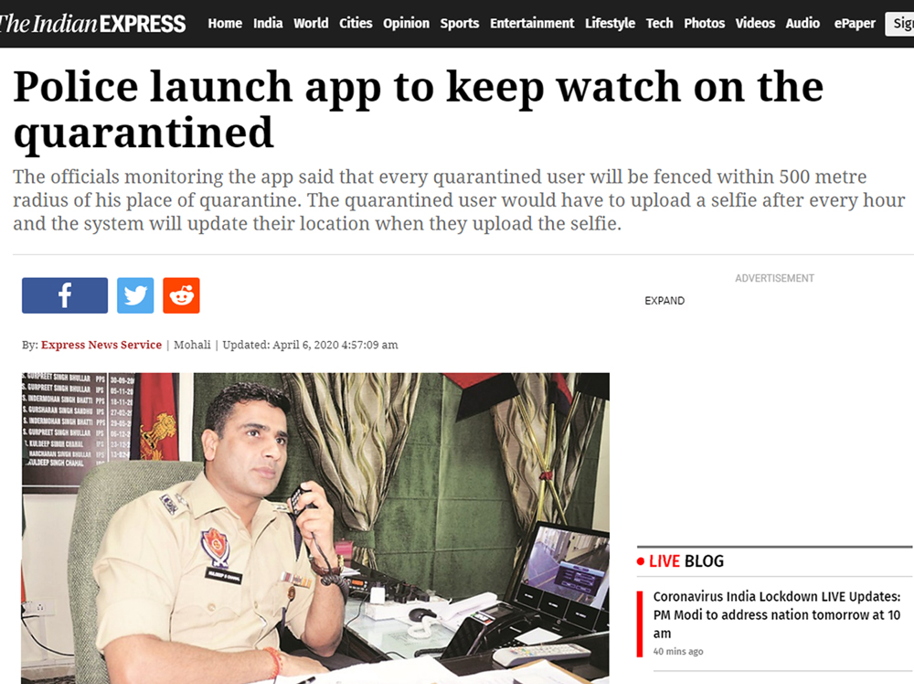 Police launch app to keep watch on the quarantined